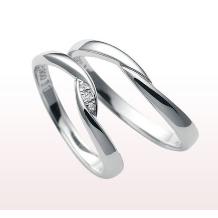 KAKIZAKI●宝石の柿崎_~nocur~ ペア11万円★抱え込むようにセットされたダイヤが魅力的なリング