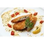 SENSE:~白身魚のベニエ~淡泊な白身魚に爽やかなレモンソースが良く合います。