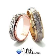 Weliana (ウェリアナ):ONLYONE オーダーメイド ペアマリッジリング デュアルトーン/フラット形状