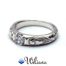 Weliana (ウェリアナ):ハワイアンエアルーム エンゲージメントダイヤモンド セッティングwesw5327