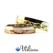 Weliana (ウェリアナ):ONLYONE オーダーメイド ペアマリッジリング シングルトーン/フラット形状