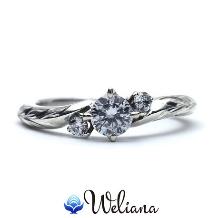 Weliana (ウェリアナ):ハワイアンエアルーム エンゲージメント ダイヤモンド リング Malie