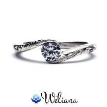 Weliana (ウェリアナ):ハワイアンエアルーム エンゲージメント ダイヤモンド リング Moani