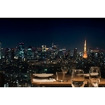 Longrain TOKYO:夜景の中の東京タワー