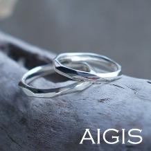 AIGIS(アイギス)_【二人で作る結婚指輪】つちめ風デザイン(ワックスコース・所要時間3時間)