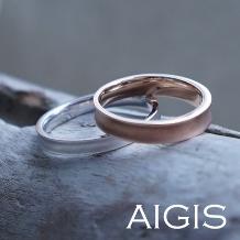 AIGIS(アイギス)_【二人で作る結婚指輪】逆甲丸×つや消し(所要時間3時間)