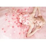TuNoah wedding(チュノアウエディング):【プリンセス】キラキラ光る3Dフラワーが大人気のカラードレス!4色から選べます!