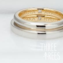 THREE TREES(スリーツリーズ)_おふたりだけの秘密の…☆ THREE TREES 手作り結婚指輪