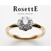 CUORITA(クオリタ)_RosettE SUNSHINE~太陽~ 陽光を浴びた白バラがイメージの婚約指輪