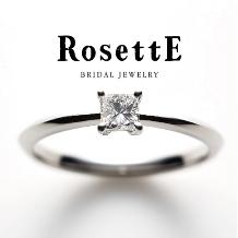 CUORITA(クオリタ)_RosettE HOPE~希望~ プリンセスカットのダイヤモンドが輝く婚約指輪