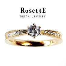 CUORITA(クオリタ)_RosettE STARRY SKY~星空~ 絞られたシルエットが美しい婚約指輪