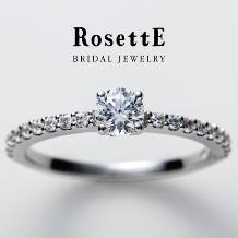 CUORITA(クオリタ)_RosettE CURRANT~すぐりの実~ 細身のハーフエタニティ婚約指輪