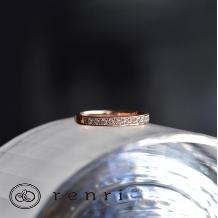 renri_【手作り・オーダーメイド】ダイヤモンドのラインが華やかなエタニティリング