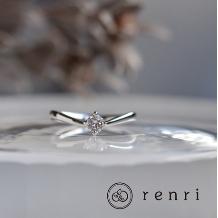 renri_【手作り・オーダーメイド】柔らかな曲線が繊細なプラチナのエンゲージリング
