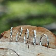 ブライダル専門店 KIORI DIAMOND_生涯、毎日つけられる指輪【COLANY】マリッジリング「モミジ」