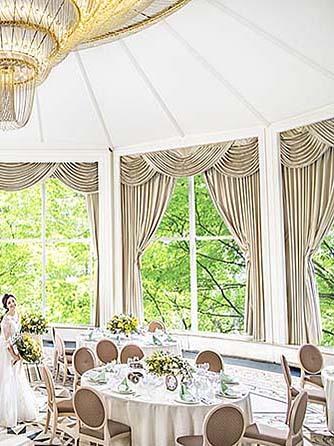 リーガロイヤルホテル 【光と緑のパーティ】ダイヤモンドルーム画像1-2