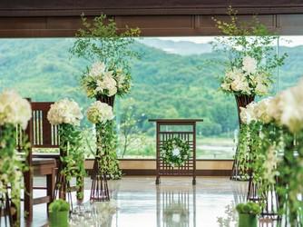Japanese Resort Wedding SENKEI&KAHOU(ホテル泉慶・華鳳) 神殿(新挙式会場 縁-enishi-(館内)&ガーデン)画像2-1