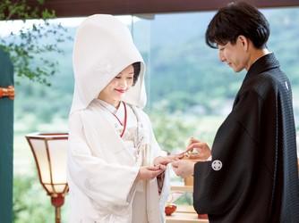 Japanese Resort Wedding SENKEI&KAHOU(ホテル泉慶・華鳳) 神殿(新挙式会場 縁-enishi-(館内)&ガーデン)画像2-3