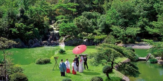 Japanese Resort Wedding SENKEI&KAHOU(ホテル泉慶・華鳳) 神殿(新挙式会場 縁-enishi-(館内)&ガーデン)画像1-1