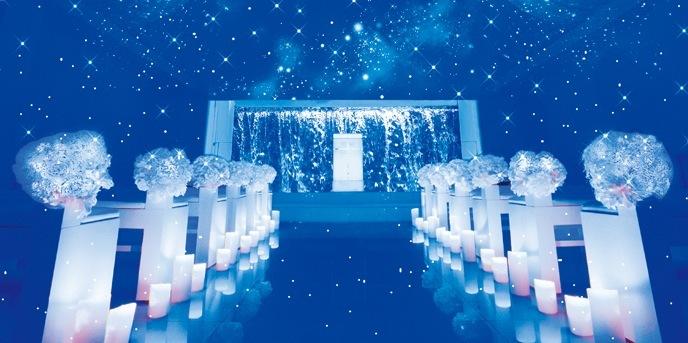 ・・★星空チャペル®★・・ THE LHOUSE NAGOYA(エルハウス・ナゴヤ) チャペル(純白チャペルが一瞬でキラキラ輝く星空に☆)画像2-1