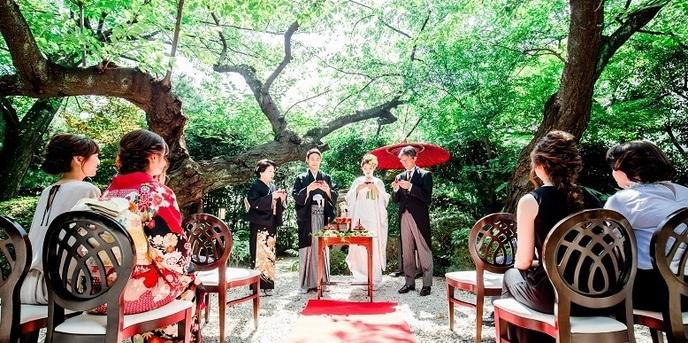 神戸北野 ハンター迎賓館 セレモニースペース(和庭園挙式)画像1-1