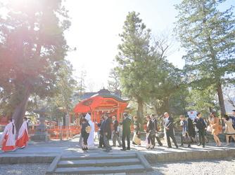 スタイリッシュウェディング ヴィーナスコート 佐久平 神社(生島足島神社)画像2-3
