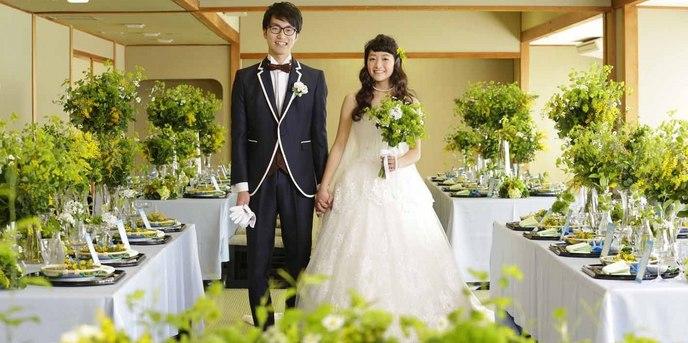 THE GARDEN PLACE 三翠園 ゲストの笑顔溢れる披露宴会場【やいろ】画像1-1
