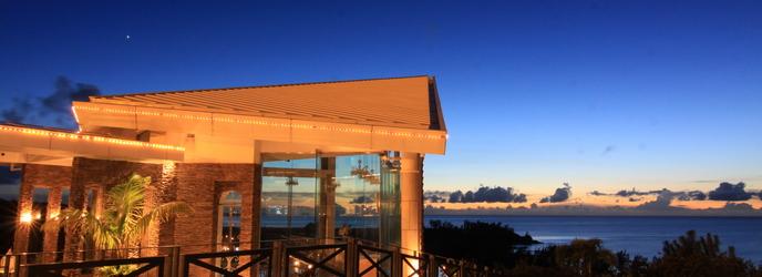 チャペル・ダイアモンドオーシャン(沖縄かりゆしホテルズウェディング):丘の上から見下ろす海。サンセットの景色は圧巻☆