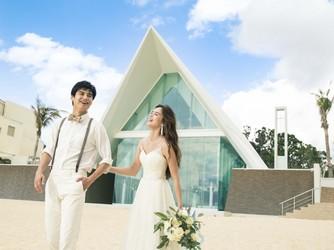 アイネス ヴィラノッツェ 沖縄:青空へと伸びる滑走路をイメージした白い屋根のセント・ジョセフ・チャペル