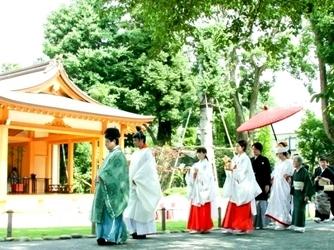 阿佐ヶ谷神明宮 神社(緑あふれる能楽殿での伝統的な挙式)画像2-2