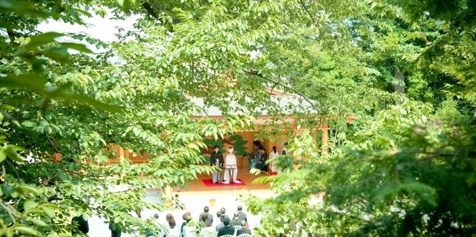 阿佐ヶ谷神明宮 神社(緑あふれる能楽殿での伝統的な挙式)画像1-1