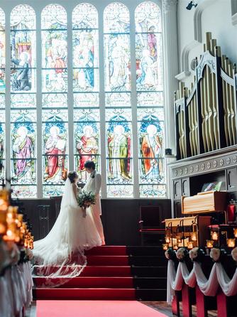 KOBE St.MORGAN CHURCH(神戸セントモルガン教会) 教会(自然光で輝くステンドグラス/挙式:2名~)画像1-2
