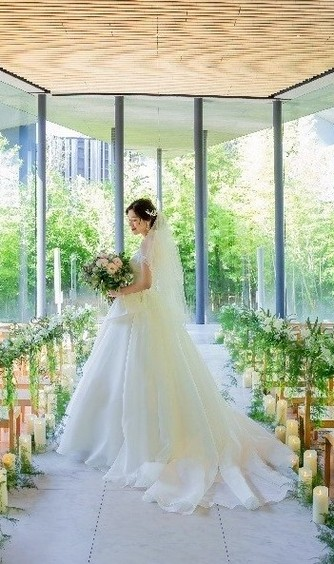 ガーデンテラス宮崎 ホテル&リゾート チャペル(3面ガラス張りの水に浮かぶチャペル)画像2-1