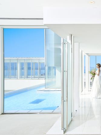 ホテルマリノアリゾート福岡 チャペル(ホテル最上階、海を一望するチャペル)画像1-1