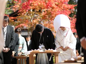 駒ヶ根高原 古民家ウェディング 「音の葉」 神殿(外神前式)画像1-3