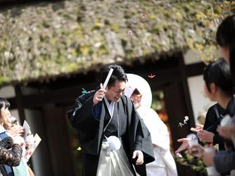 駒ヶ根高原 古民家ウェディング 「音の葉」 神殿(外神前式)画像2-2