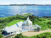 古宇利島 空と海の教会:「恋の島」伝説をもつ絶景の古宇利島