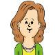中年女性の顔