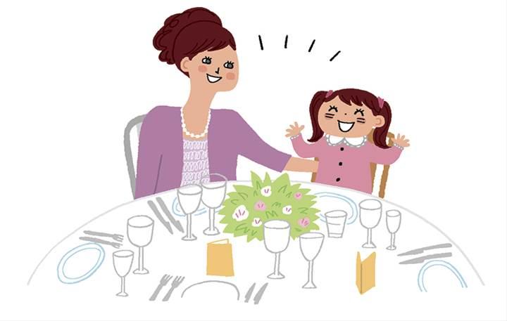 子ども連れのお母さんゲスト