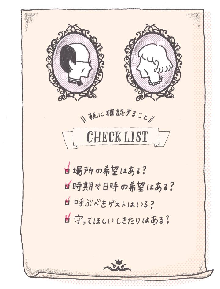 親に確認することチェックリスト
