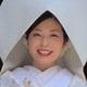 綿帽子をかぶった花嫁