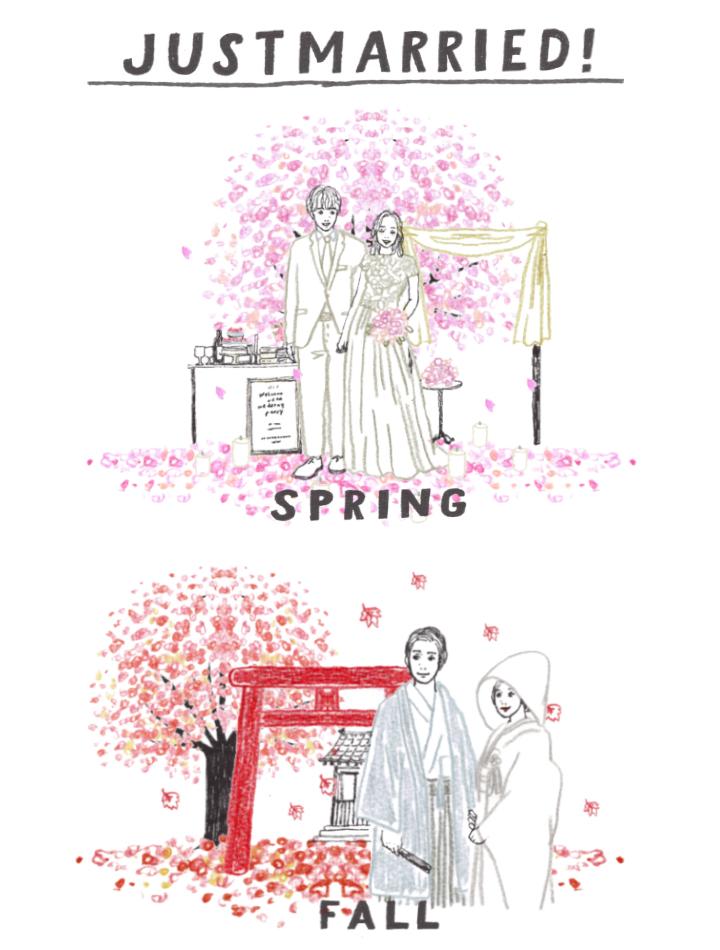 桜の季節紅葉の季節