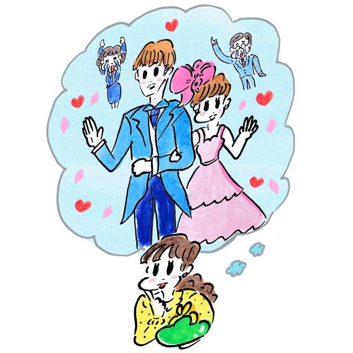 結婚式のことを夢見る花嫁