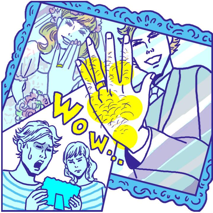 指毛(yu-bi-ge) ――手元の写真を撮られて分かる……この存在感――