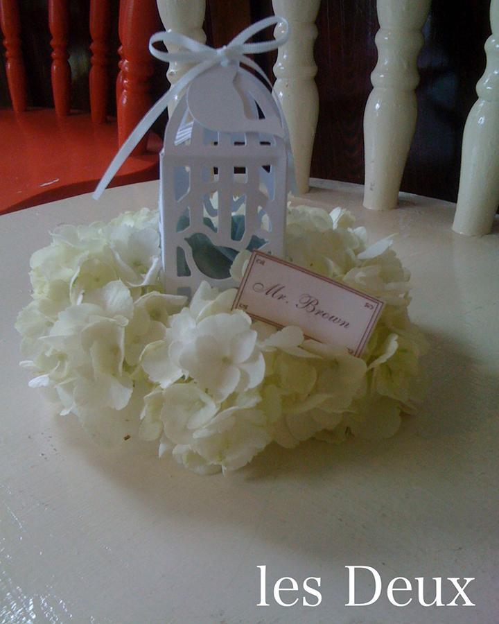 アーティフィシャルフラワーのプチ装花