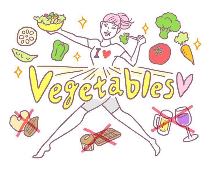 【作戦その5】 食べ物に気を使い、野菜中