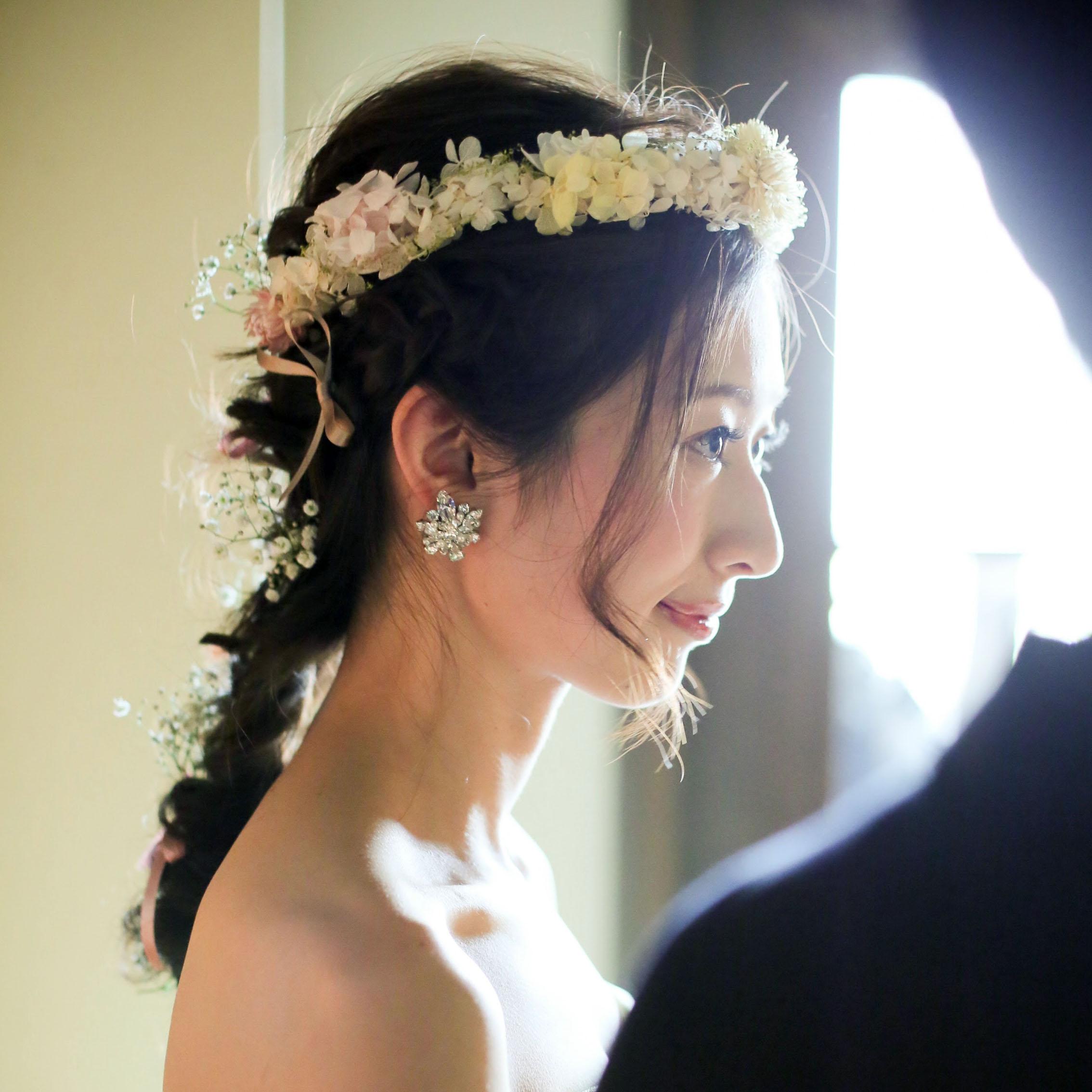 プリザーブド花冠花嫁