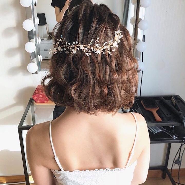 小枝のワイヤーヘッドドレス