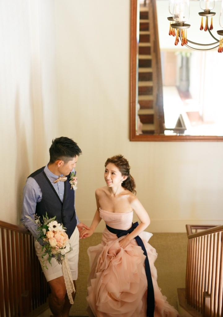 ピンクドレスと2人