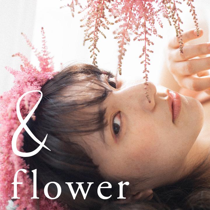 カラードレス×生花ヘアのイメージ画像